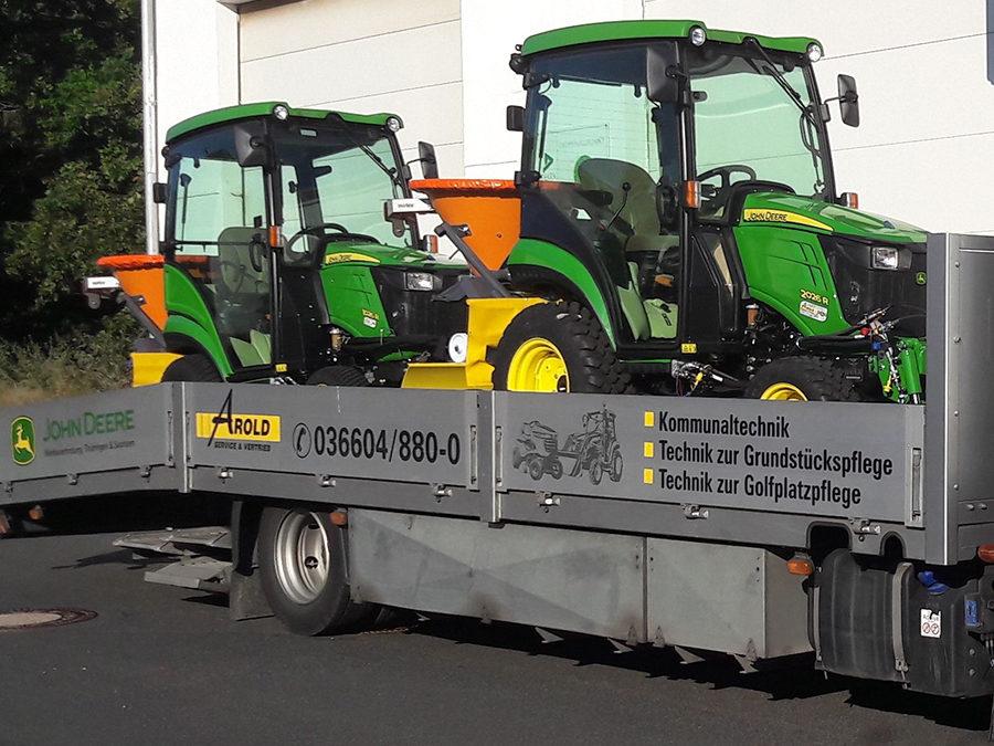Neue Traktoren für den Winterdienst eingetroffen!
